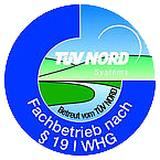 TÜV Nord Siegel in Blau